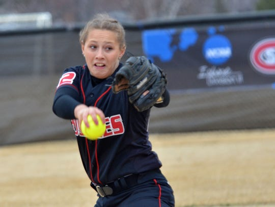Pitcher Kelly Franks is making her second postseason