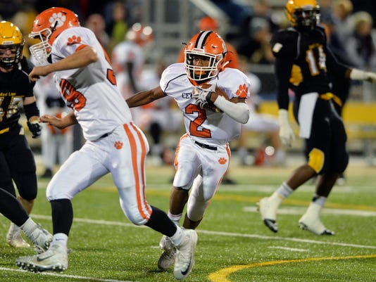 Central York's Noriega Goff rushes against Red Lion in the first half of a YAIAA football game Friday, Oct. 23, 2015, at Red Lion. Red Lion defeated Central York 42-0. Chris Dunn Ñ Daily Record/Sunday News