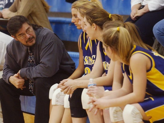 Big Sandy coach Roy Lackner gives his starters a rest