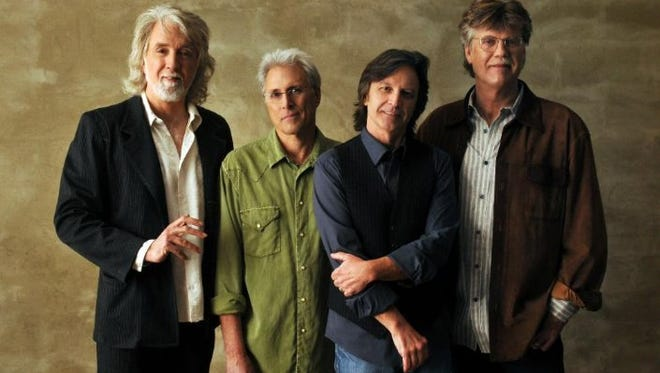 The Nitty Gritty Dirt Band is, from left, John McEuen, Jimmie Fadden, Jeff Hanna and Bob Carpenter. The group is on a continuation of its 50th anniversary tour, which it officially marked in 2016.  Jeff Hanna, Jimmie Fadden, Bob Carpenter, John McEuen