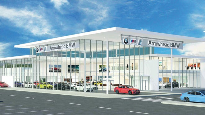A rendering of the Arrowhead BMW dealership.