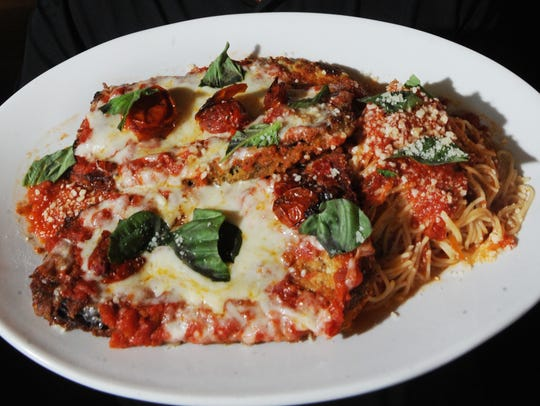 Eggplant Parmesan is a staple of the menu at Romano's