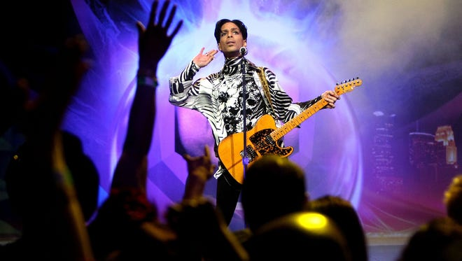 Prince performs in Los Angeles in March 2009.