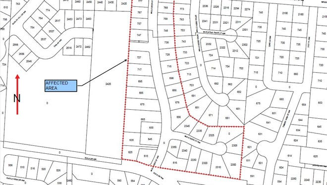 A boil water notice was issued to portions of West Salem.