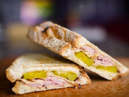 Cuban-Style Panini sandwich.