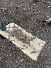"""One of the """"booby traps"""" found along a walking trail in High Mountain Park in Wayne."""