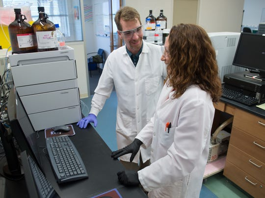 Greg Welmaker and Analytical Lab Manager Ginamarie Debevec work to  develop a Research Coast biotech community, while helping to grow Florida's life sciences sector.
