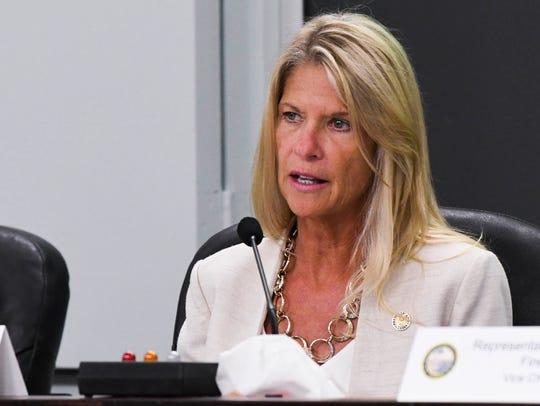 Senator Debbie Mayfield speaks during the annual meeting