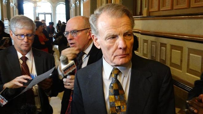 """House Speaker Michael Madigan is shown in this file photo from Oct. 28, 2019, at the Capitol in Springfield. Madigan is referred to as """"Public Official A"""" in federal court documents filed last month in which ComEd agreed to pay $200 million to resolve a federal investigation into a """"yearslong bribery scheme."""""""