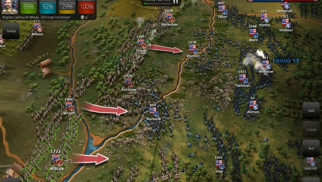 A screen shot of the game Ultimage General: Gettysburg