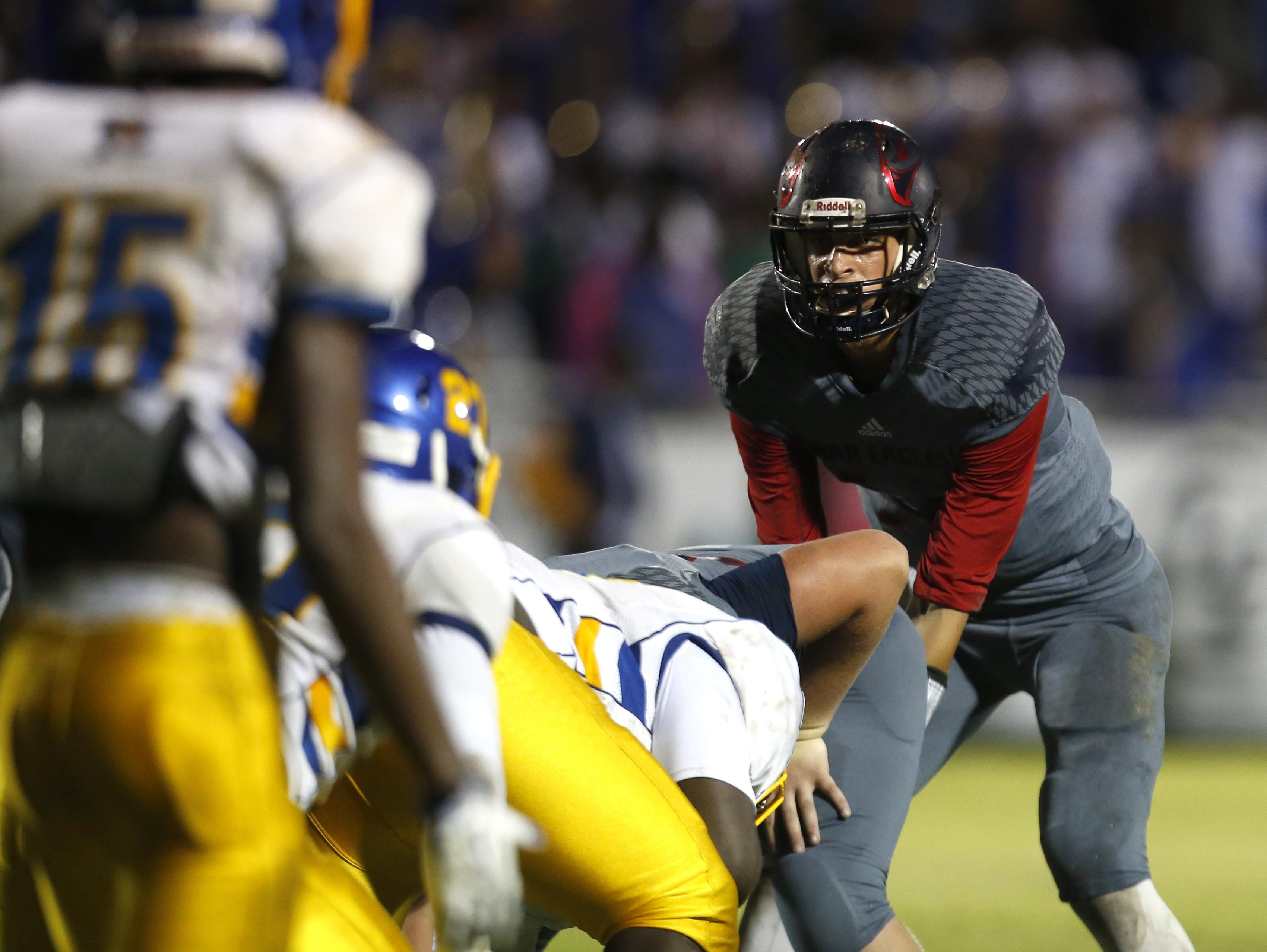 Wakulla quarterback Feleipe Franks goes under center for a play during a playoff win over Rickards last Friday. Franks has opened up his recruitment after decommitting from LSU on Monday.