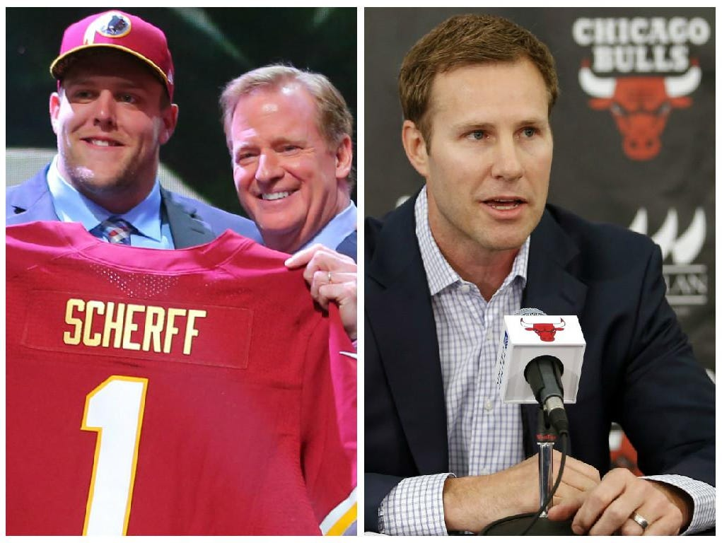 Denison product Brandon Scherff (left) and Ames star Fred Hoiberg are just a couple of Iowans who have had a great start in 2015. Scherff was selected fifth overall in the 2015 NFL Draft by the Washington Redskins and Hoiberg left Iowa State to coach in the NBA with the Chicago Bulls.
