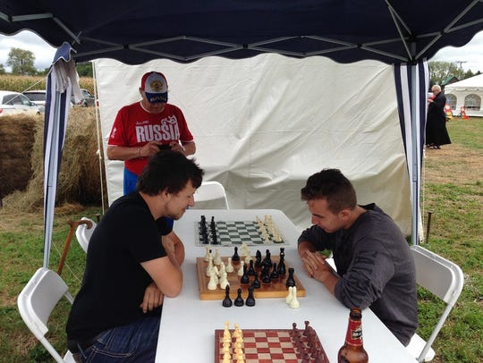 Chess is a favorite activity at the annual Russian