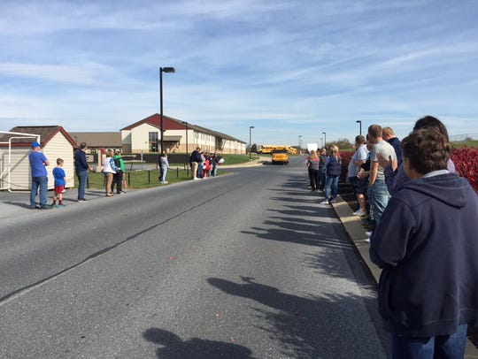Annville-Cleona field hockey fans line up to send off