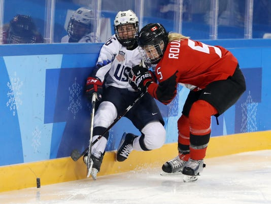 USP OLYMPICS: ICE HOCKEY-WOMEN TEAM GROUP A - USA- S OLY KOR