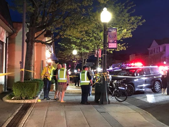 A car crashed into Enzo's Ristorante on Mamaroneck Avenue on Sunday night, injuring numerous people and closing a section of the road.