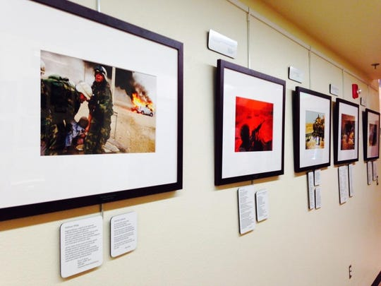 "Photographs in the ""Always Lost: A Meditation on War"" exhibition created at Western Nevada College in Carson City."