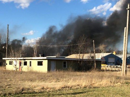 Neighbors say a fire near Wilson Street and Bonow Avenue