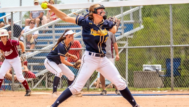 Of the seven runs Madelin Skene allowed to Milford only one was earned, as Hartland made nine errors in the district semifinal loss to Milford on Saturday.