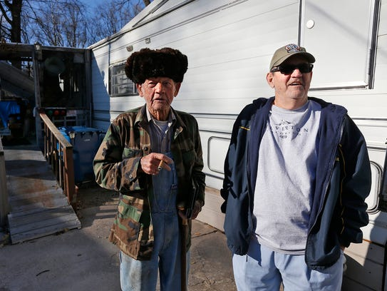 Gene Hendricks, right, and his father Jack Hendricks