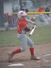 Buckeye Central's Katie Keppler swings at a pitch against Galion.