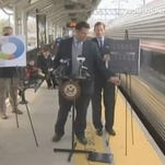 Train nearly sideswipes Sen. during rail safety event | ZoomIN