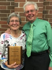 Wally and Lois Nass, of Watertown were presented with