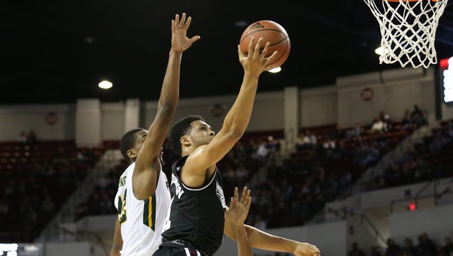 Mississippi State sophomore Quinndary Weatherspoon led his team in scoring against Norfolk State on Friday.
