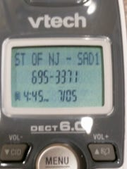 This photograph shows what appeared on District 11 residents caller IDs when a July 5 robocall from Assemblywoman Serena DiMaso came through