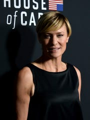 "Actress Robin Wright arrives at the special screening of Netflix's ""House of Cards"" Season 2 at the Directors Guild Of America on Feb.13, 2014 in Los Angeles."