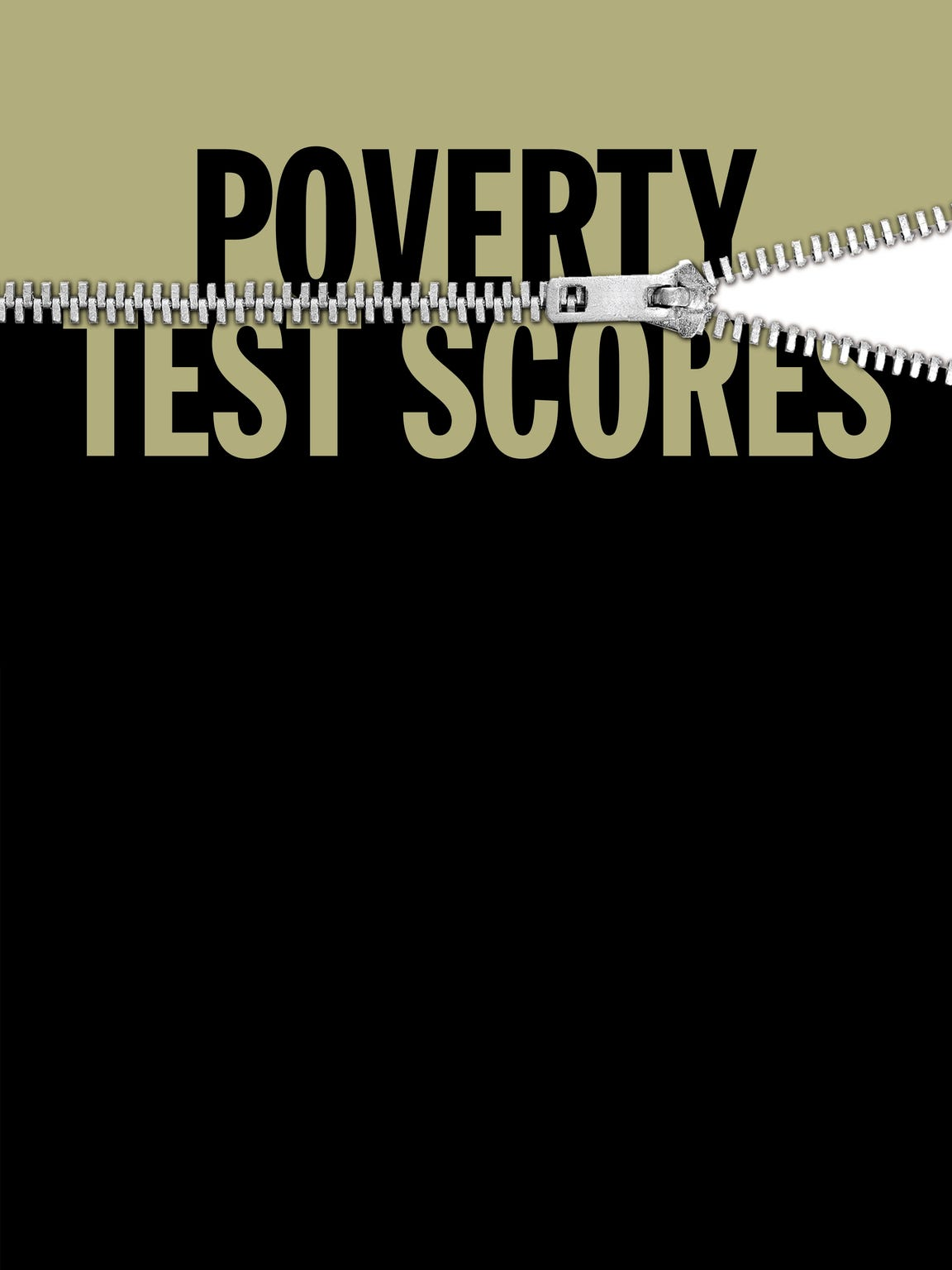 Poverty test scores illustration