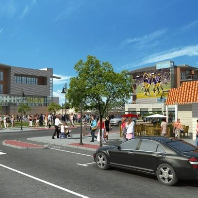 The Bossier City downtown re-envisioning project will