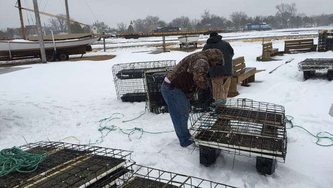 About 100 missing oyster floats like these have been recovered and returned to Tangier Island after 170 floats were set adrift during bad weather in February. Some of the floats were found as far away as Virginia Beach and Corolla, North Carolina.