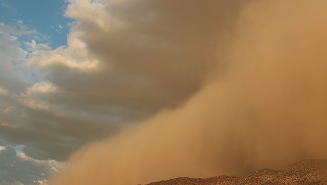 On South Moutain when the dust wall hit, September 6, 2014.