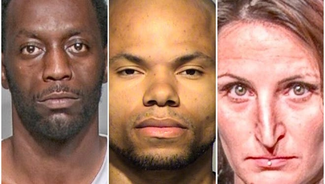Antwuan M. Hardy (from left), Brandon M. Lane and Nicole L. Kauper will be sentenced in the next few months for their part in a home invasion in Wauwatosa in July.