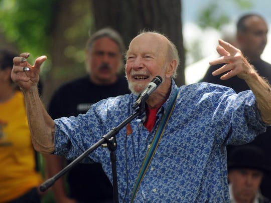 Pete Seeger performs in June at the Beacon Sloop Club?s annual Strawberry Festival. Karl Rabe/Poughkeepsie Journal Pete Seeger of Beacon performs as the Beacon Sloop Club holds its annual Strawberry Festival Sunday, June 9, 2013, in Beacon.