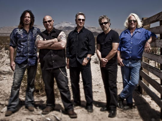 Make no mistake: John Fogerty is not a member of Creedence Clearwater Revisited (from left, Kurt Griffey, John Tristao, Stu Cook, Doug Clifford and Steve Gunner).
