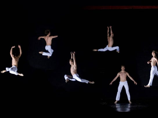 """""""Caught,"""" choreographed by David Parsons, features"""