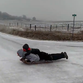 Iowans zoom down icy road on sleds as seen in popular video
