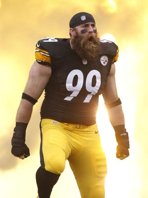 A free agent, Brett Keisel, who turns 36 in September, played all 11 of his NFL seasons with the Steelers.
