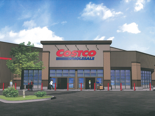 Construction is underway at the Costco site in East