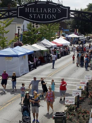 Visitors and vendors fill the streets of Old Hilliard during the Old Hilliardfest Art & Street Fair on Sept. 14, 2019. This year's event, which was scheduled Sept. 12, has been canceled because of the COVID-19 coronavirus pandemic.