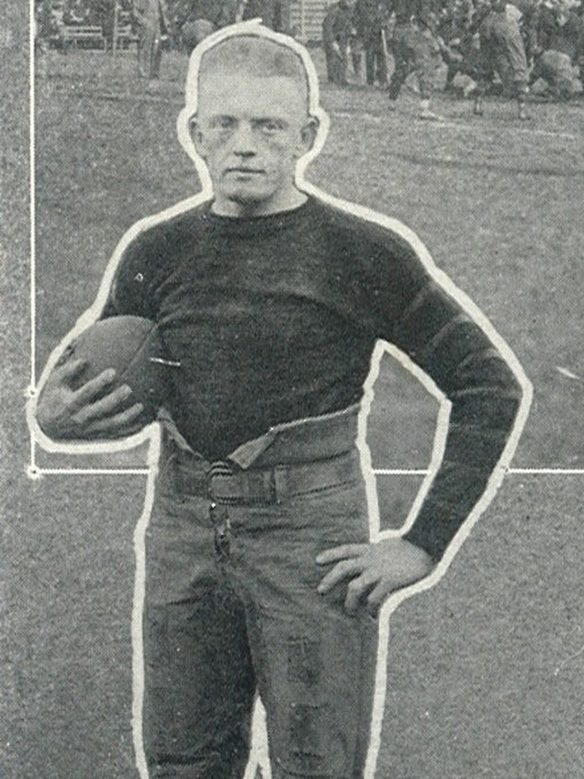 """Johnny """"Red"""" Floyd poses for a photo in 1920 Vanderbilt"""