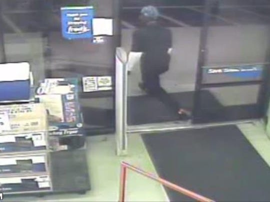 Police are looking for this man in connection to a robbery at Fred's Super Dollar Monday night.