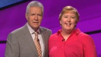 """Bonnie Megel, pictured with """"Jeopardy!"""" host Alec Trebek, will compete on the show on July 7."""