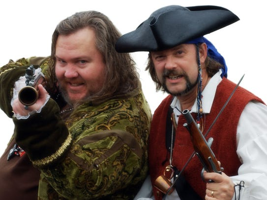 """The founders of Talk Like a Pirate Day, Mark """"Cap'n"""