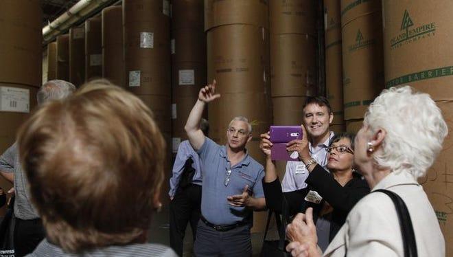 Insider tour at The News-Press.