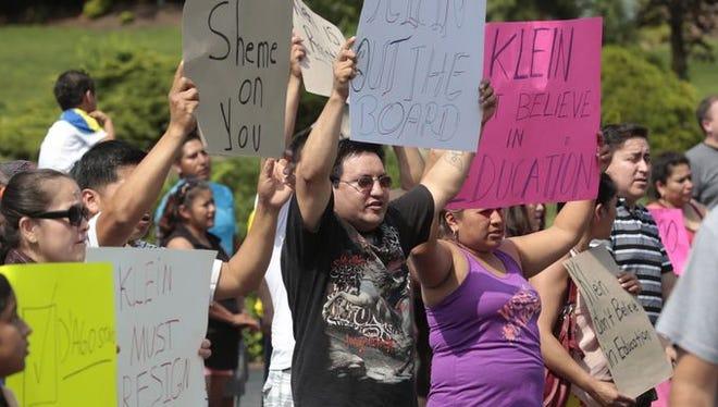 East Ramapo school district parents protest.