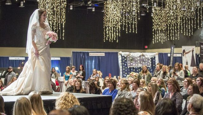 Fashion show during 2016 East Central Indiana Bridal Show.