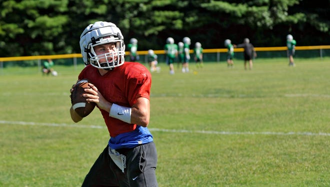 Christ School quarterback Landon Archangelo
